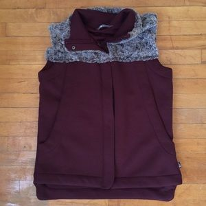 Maroon North Face Vest